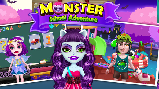 My Crazy Monster Playhouse - School Adventure