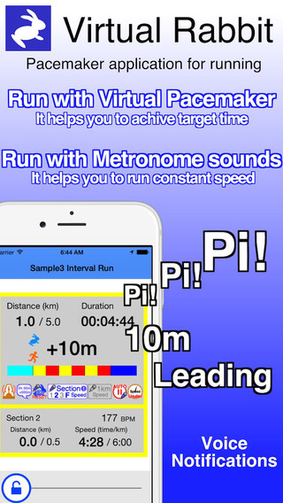 Virtual Rabbit - Pacemaker application for running exercise.