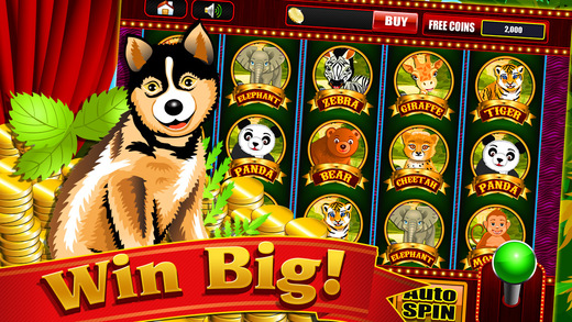 Bouncing Animals in the Lucky Zoo Island - Free Casino Vegas Slots Game