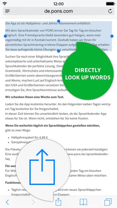 PONS Advanced Spanish <-> German Dictionary iPhone Screenshot 3
