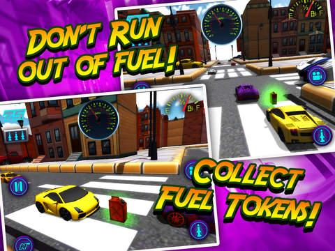 A Mini Toy Toon 3D Car Motor Racing Lightning Fast Auto Race Gamescreeshot 5