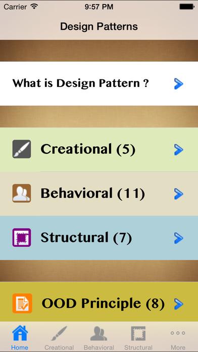Design Pattern Pro iPhone Screenshot 3