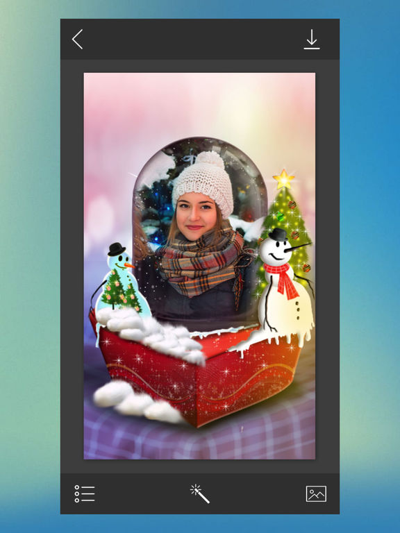 App shopper christmas tree picture frame foto montage photography