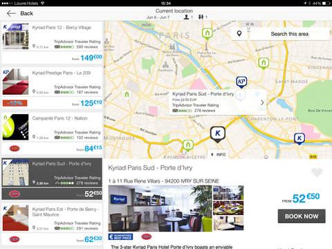HotelForYou iPad Screenshot 1