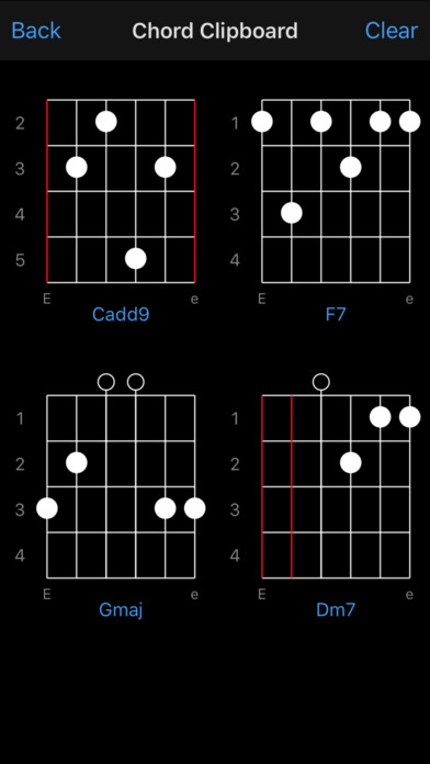 Guitar Chords iPhone Screenshot 2