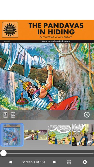 Pandavas In Hiding - Amar Chitra Katha Comics iPhone Screenshot 1