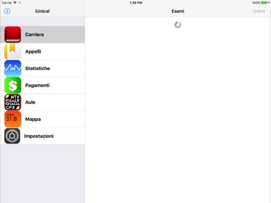 iUnical iPad Screenshot 2