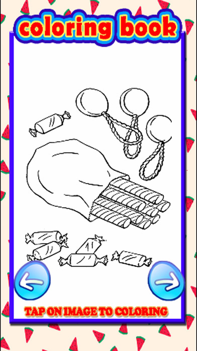 Coloring Page Candy Cookie Game Toddler Kids screenshot 2