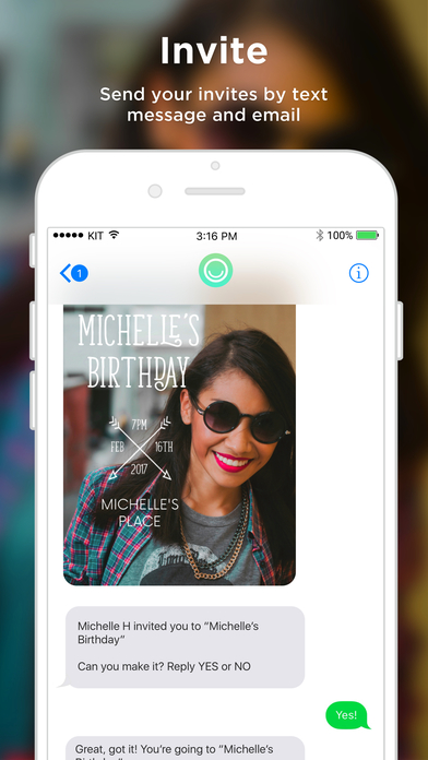 Hobnob Invites: Invitations, RSVP by Text Message screenshot 3
