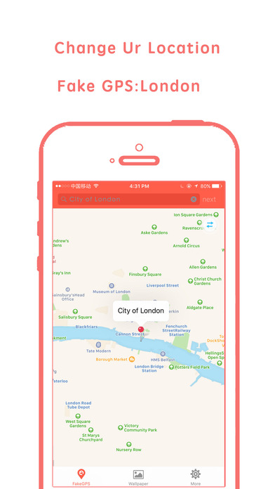 Fake gps- change GPS location&share faker gps to U Apps free for iPhone/iPad screenshot