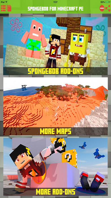 Bikini Bob Addons for Minecraft Unofficial for PE Apps free for iPhone/iPad screenshot