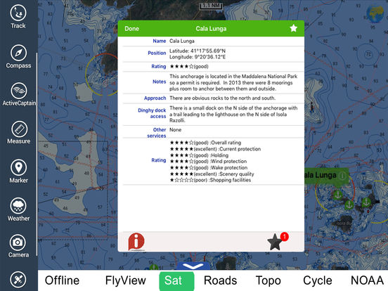 Marine: Corsica (Corse) HD - GPS Map Navigator iPad Screenshot 4