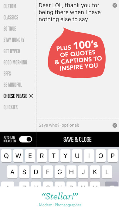 Word Swag - Cool fonts, typography generator, creative quotes, and text over pic editor! - iPhone 截图 5