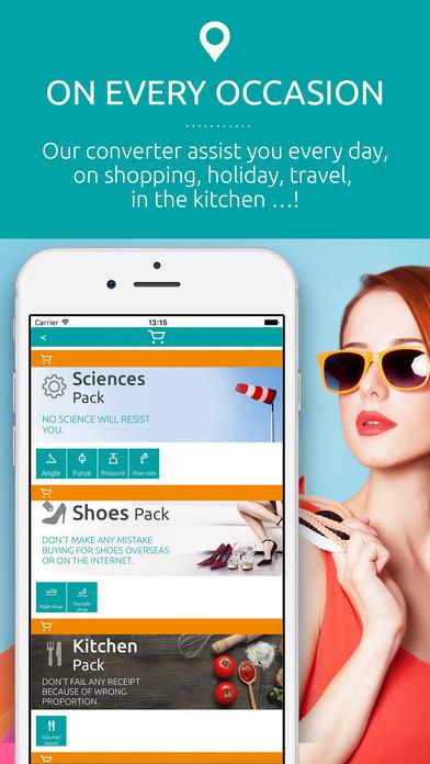Universal converter free: Converts all units of measurement iPhone Screenshot 3