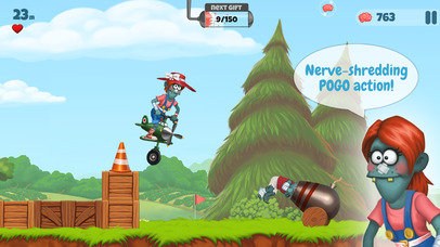 Screenshots of Zombie's Got a Pogo for iPhone