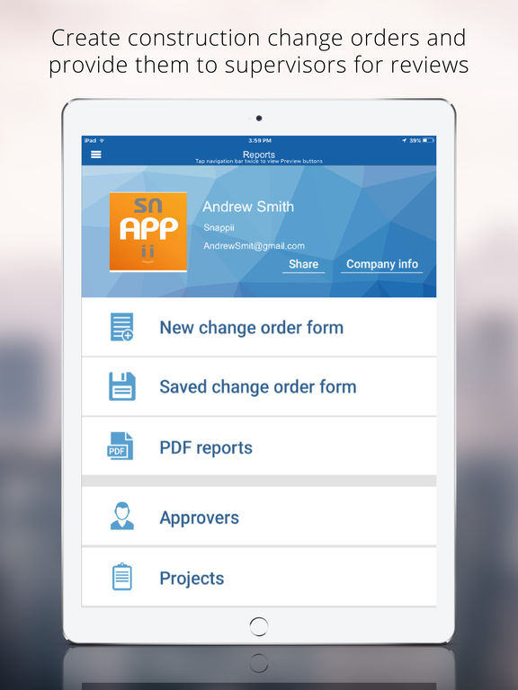Construction change order app on the app store for Application construction maison ipad