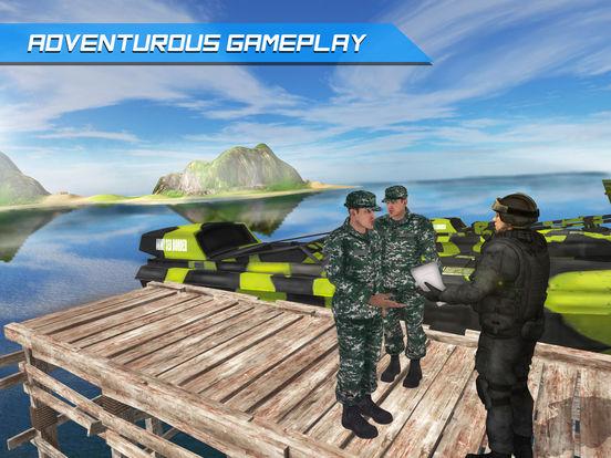 Армия Лодка Море Пограничный патруль - Современная для iPad