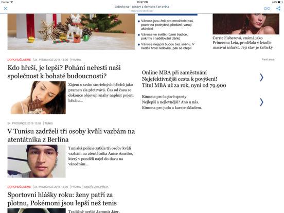 NOVINY A ČASOPISY iPad Screenshot 1