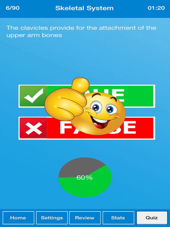 True False : Human Body Quiz screenshot 8