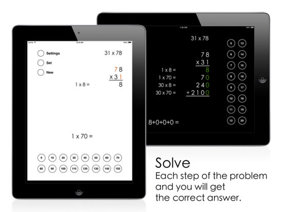 Partial Products Multiplication iPad Screenshot 2