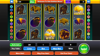 Screenshot 1 Free Slots — Buffalo Moon