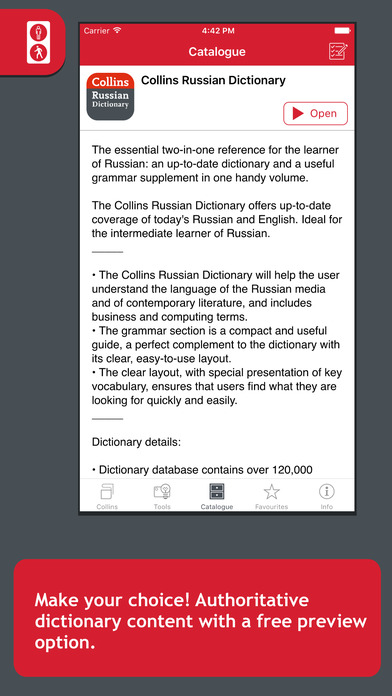 Collins Russian Dictionary iPhone Screenshot 1