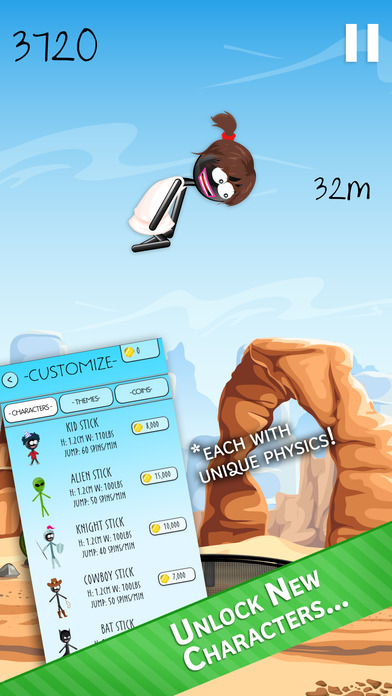 Stickman Trampoline PRO - Extreme Flip Action! Screenshot