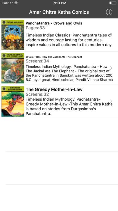 Panchatantra Digest - Amar Chitra Katha Comics iPhone Screenshot 1
