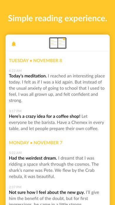 JOT (Just Open & Type) - A new kind of journal 앱스토어 스크린샷