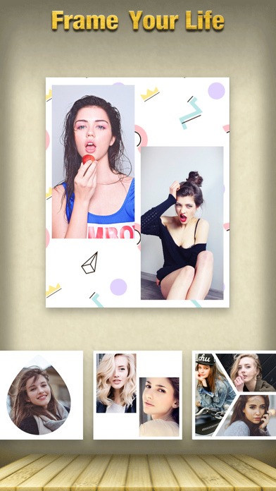 Screenshots of FrameUrLife - Picture Frames + Photo collage for iPhone