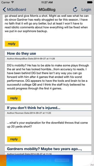 MGoBlog iPhone Screenshot 3