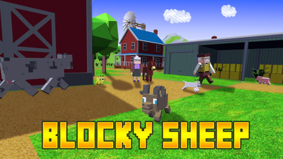 Blocky Sheep Farm 3D Full screenshot 1