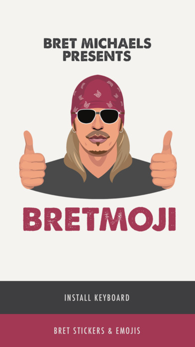 Bret Michaels Emojis plus Lyric Keyboard screenshot 1