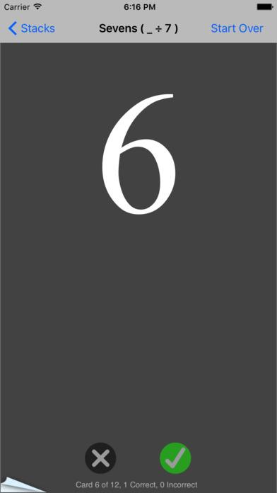 Simple Division - Table iPhone Screenshot 2