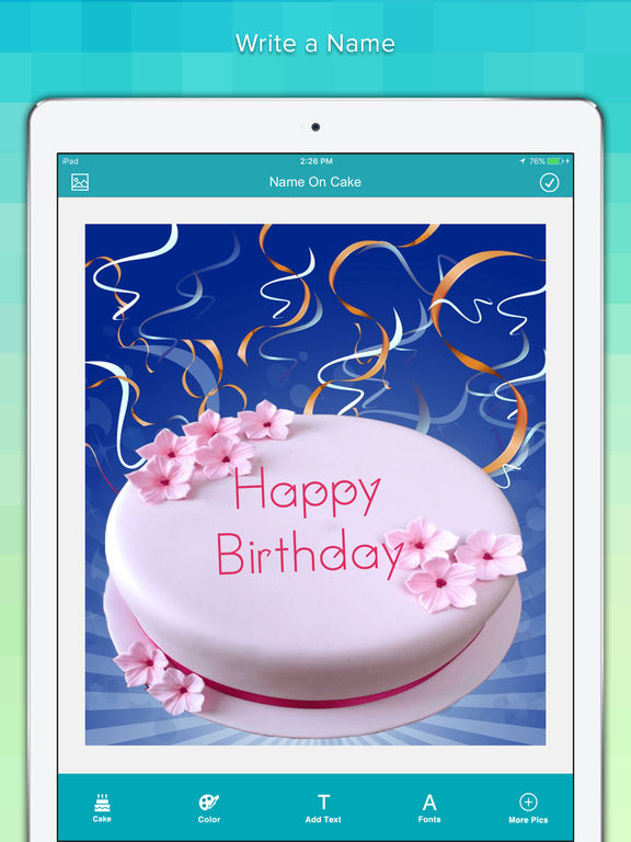 App Shopper: Name On Cake - Write Name On Happy Birthday ...