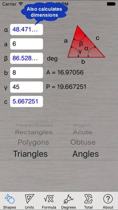 Area Calculator iPhone Screenshot 1