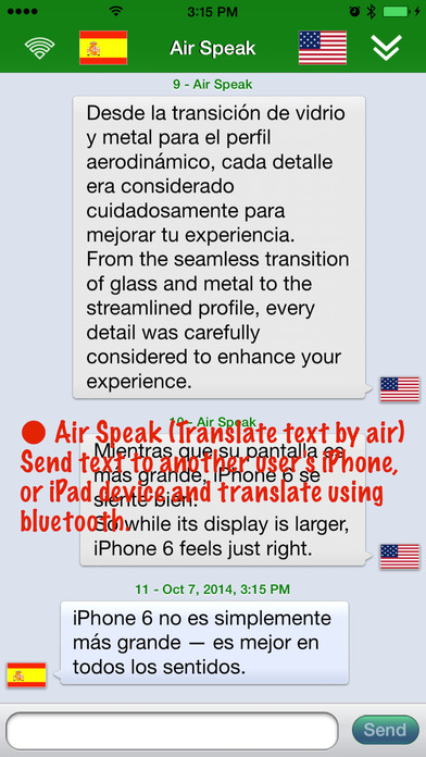SpeakText Air Screenshot