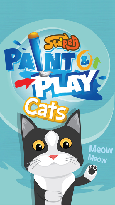 Paint & Play Cats, Coloring Book For Kids iPhone Screenshot 5