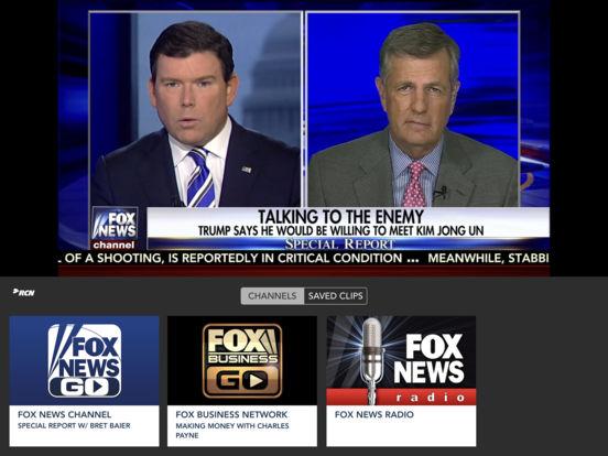 Screenshots of Fox News for iPad