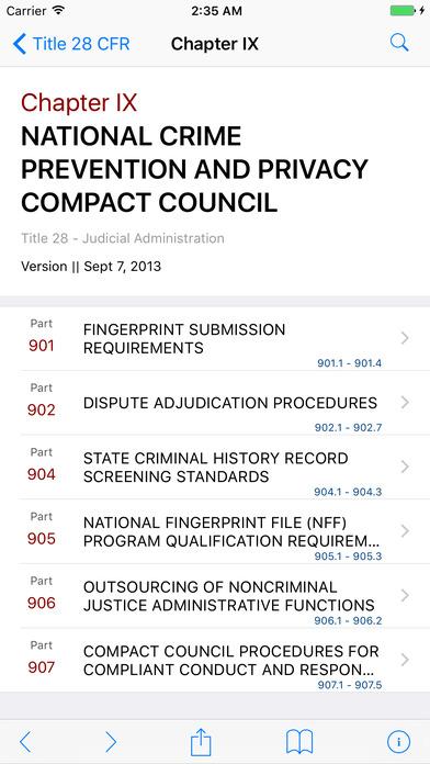 Title 28 Code of Federal Regulations - Judicial Administration iPhone Screenshot 2