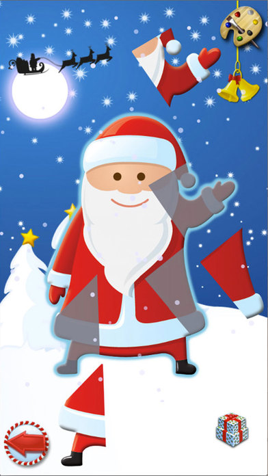 Christmas - Color Your Puzzle and Paint the Characters of Christmas - Coloring, Drawing and Painting Games for Kids iPhone Screenshot 2