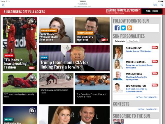 CANADIAN NEWSPAPERS and MAGAZINES iPad Screenshot 1