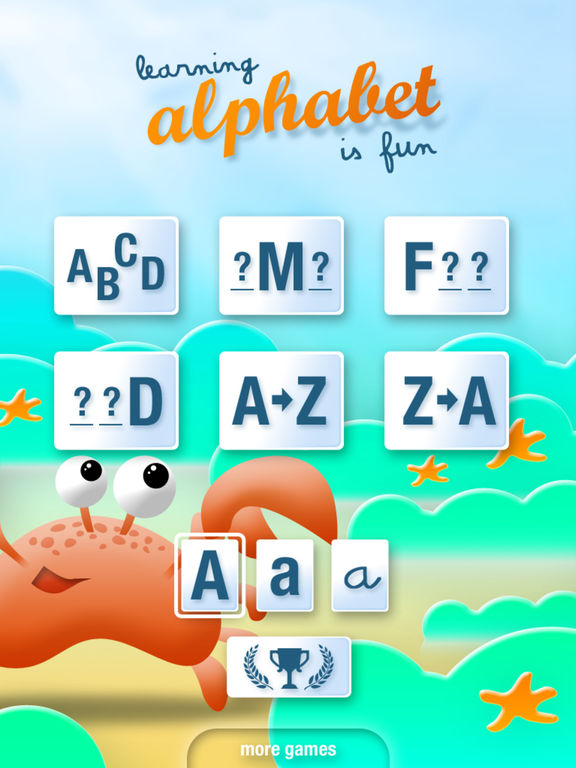 Learning alphabet is fun