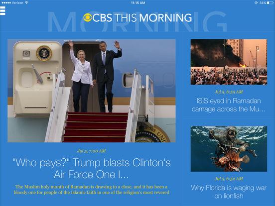 CBS News iPad Screenshot 3