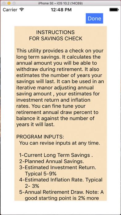 Savings Check iPhone Screenshot 2