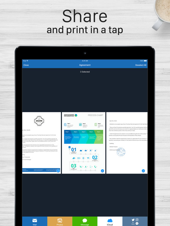 Scanner For Me - PDF Scan with OCR for Documents iPad