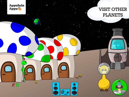 Gigi Giraffe Space Adventure - Apps for Kids 2-4 Screenshots