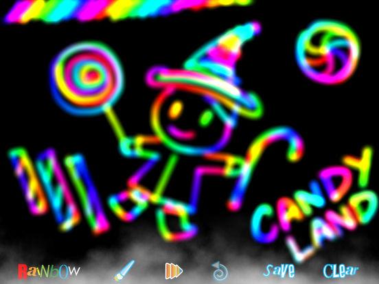 RainbowDoodle - Animated rainbow glow effect iPad Screenshot 5