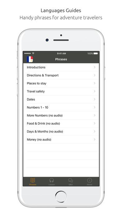 World Nomads French Language Guide iPhone Screenshot 2