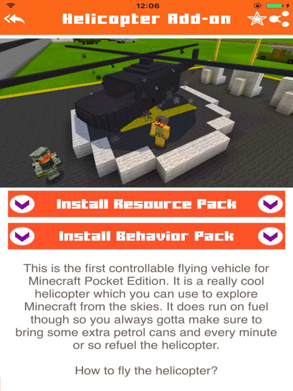 Helicopter Addons for Minecraft Pocket Edition PE Скриншоты6